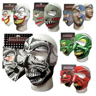 Neoprene Mask Face Mask Graphical + Reversible   Assorted Styles