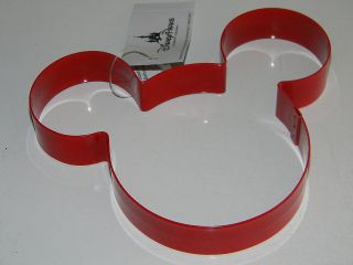 Disney MICKEY MOUSE EARS Lg. RED METAL COOKIE CUTTER Sandwich Craft