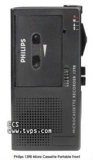 Philips LFH1398 LFH 1398 Micro Cassette Handheld Portable Recorder
