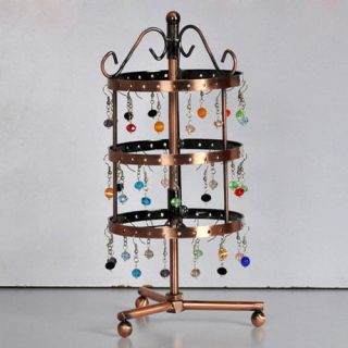 Stand Rotating Metal 72pairs for Earrings Display Rack Jewelry Holder