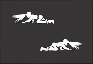 Crawling Coal Miner Sticker Mine Mining Window Graphic Decal 2x5 Lot