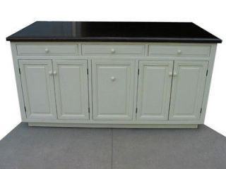 ft Solid Wood Kitchen Island Carved Corbel  Trasy/Roll out trays