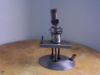 SCRAP METAL ART SCULPTURE,PEN HOLDER,GIFTS FOR CHEF,COOK,METAL ART