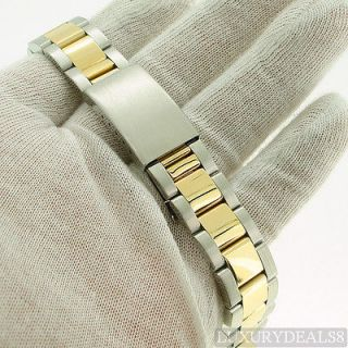 19mm Gold Stainless Steel Two Tone Oyster Watch Band for Rolex Date