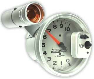 Auto Meter Tachometer Gauge 5 Monster Tach Rev Counter White 10,000