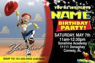 TOY STORY JESSIE BIRTHDAY INVITATIONS INVITES W/MATCHING FAVORS