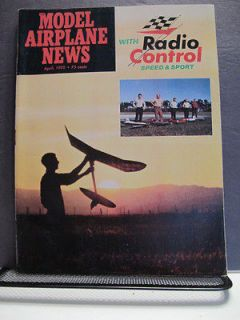 Model Airplane News Radio Control Speed & Sport Magazine April 1970