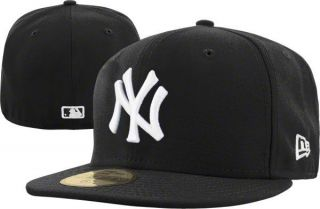 Era 5950 New York Yankees   NY   WHITE on BLACK   MLB Baseball Cap Hat
