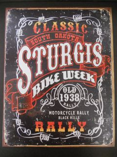 Sturgis Bike Week Rally Motorcycle Chopper Sportster Vintage Style