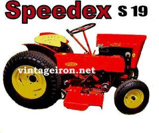 SPEEDEX S19 Garden Tractor tee shirt