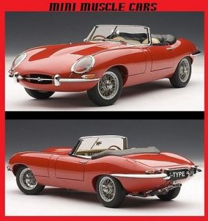 73601 1:18 RED JAGUAR E TYPE ROADSTER SERIES I 3.8 DIECAST MODEL CAR