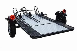 Rail Motorcycle Trailer Dual Single Foldable Hitch Honda Gold Wing