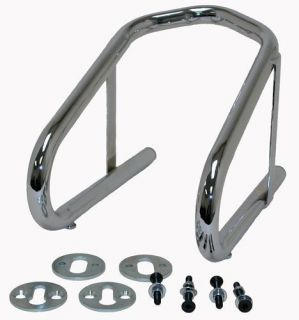 Chrome Motorcycle Wheel Chock Removable 6.5 Inch Harley