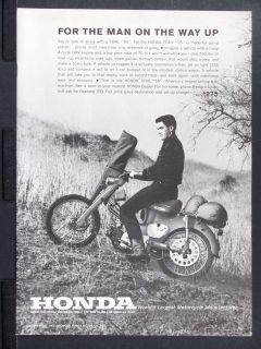 1963 HONDA Trail 55 Motorcycle Motor Bike magazine Ad off road hunting