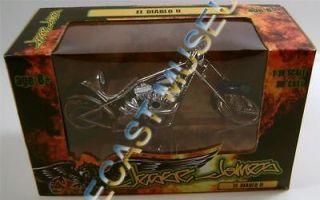 EL DIABLO II BIKE MOTORCYCLE 118 SCALE WEST COAST CHOPPERS RARE