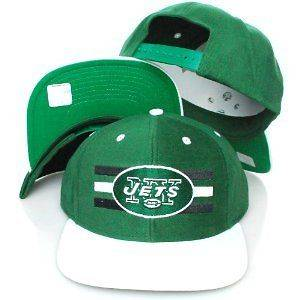York Jets Vintage Style Flat Bill Retro Snapback Hat NFL Tebow Ryan