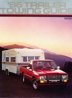 1986 Toyota Truck Trailer Towing Original Sales Brochure Catalog