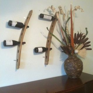 Wine Barrel Stave Wall Mounted Wine Bottle Rack