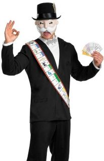 Mr Monopoly Board Game Man Adult Halloween Costume