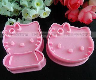 2Pcs Hello Kitty Diy Biscuit Cookie Cake Chocolate Paste Gum Craft