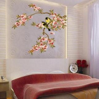 Beautiful FLOWER BRANCE TREE BIRD VINY Wall decor WALL Sticker