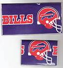 Checkbook Cover Debit Set Made w/ NFL Buffalo Bills Football Fabric