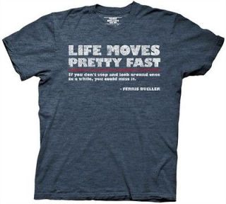 Ferris Buellers Day Off Life Moves Pretty Fast Adult T Shirt