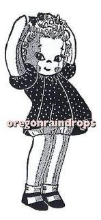 Vintage Doll Pattern 15 Little Girl   1940s Alice Brooks Mail Order