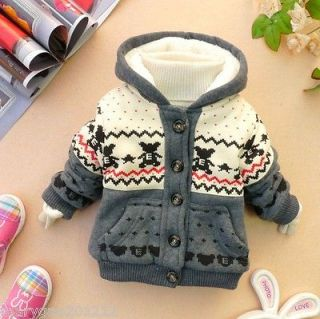SALE baby boy girl clothes winter coat kid blue red green grey baby