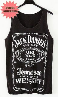 Jack Daniels Fashion Pop New Wave Punk Vintage Tank Tee T Shirt FREE