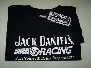 JACK DANIELS   Large T shirt   Jack Daniels Racing   Racing Patch