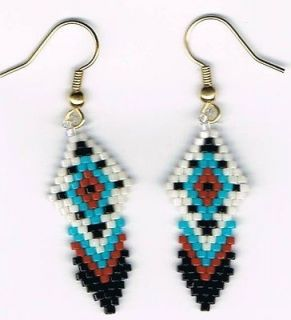 native american beaded earrings in Fashion Jewelry