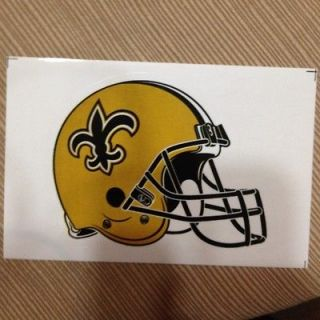 New Orleans Saints NFL helmet sticker 3.5 x 4 die cut