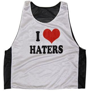 Love Haters / Haters Love Me Lax Lacrosse Pinnie