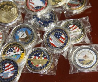 Different U.S Navy Aircraft Carrier / Military Challenge Coins /S536