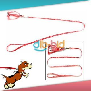 New Pet Dog Doggie Puppy Pulling Harness Leash Rope #01