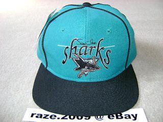 NWT VTG SAN JOSE SHARKS SNAPBACK nhl starter sports specialties script