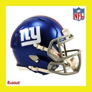 NEW YORK GIANTS NFL MINI REVOLUTION SPEED FOOTBALL HELMET by RIDDELL