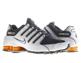 Nike Shox NZ White/Dark Grey Vivid Orange Mens Running Shoes 378341