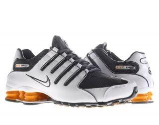 Nike Shox NZ White/Dark Grey Vivid Orange Mens Running Shoes 378341