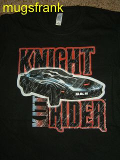 Knight Rider Kitt Car Closeup Hasselhoff Black T Shirt