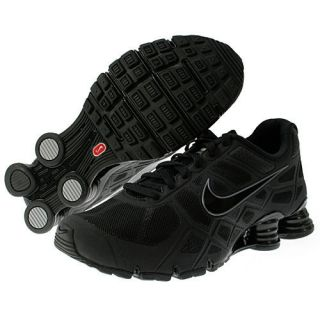 454166 001 Nike Mens NIKE SHOX TURBO+ 12 RUNNING SHOES Black Metallic