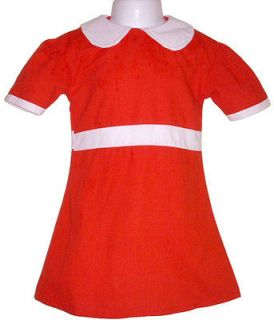 Little Orphan Annie Red Dress Costume Child S M L XL NIP
