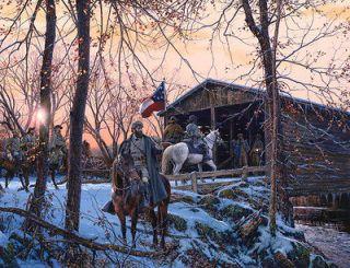 The Bridge at Romney John Paul Strain Civil War Artist Proof with
