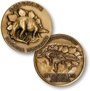 DINOSAUR NATIONAL PARK UTAH  MEDALLIC ART COMP MEDAL