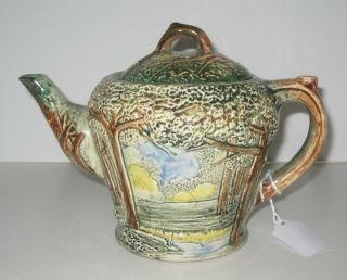 Weller Pottery Forest Tea Pot Trees & Woods