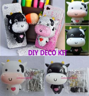 Baby Cow DIY Cell Phone iPhone 4 Case Cover Skin   Deco Den Kit