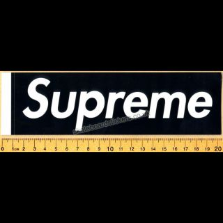 Box Logo Skateboard Clothing Sticker Black NYC skate bmx street