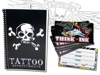 Tattoo Flash Appointment Book w/ Appointment Cards 50pk