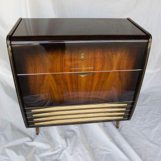 1950s Grundig Majestic Stereo Console Short Wave Radio Lafayette Turn